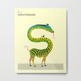 Z is for ZEBRATTLESNAKE Metal Print