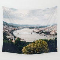 budapest Wall Tapestries featuring Budapest Pano by Johnny Frazer