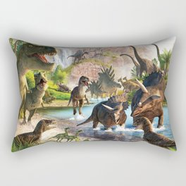 Jurassic dinosaur Rectangular Pillow