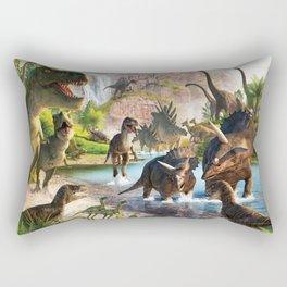 Jurassic dinosaur Rectangular Pillow