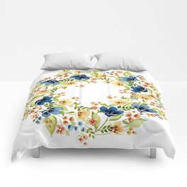 Fall into Blue Comforters
