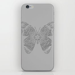 Embossed butterfly iPhone Skin