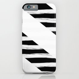 Cross Black and White Gross Stripes iPhone Case