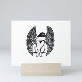 girl with wings Mini Art Print