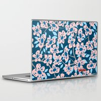 cherry blossom Laptop & iPad Skins featuring Cherry Blossom by Alannah Brid