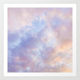 Pink sky / Photo of heavenly sky Art Print
