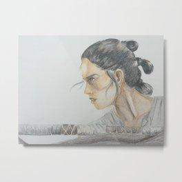 Jakku scavenger - Star Wars Metal Print