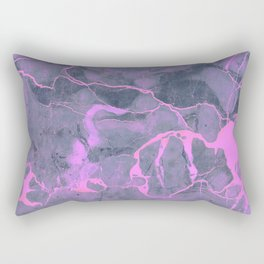 Grey and Pink Marble Rectangular Pillow