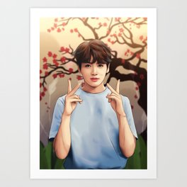 BTS JUNGKOOK SOFT Art Print