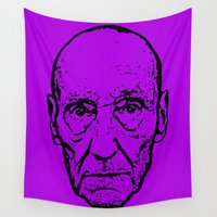 literature Wall Tapestries featuring Outlaws of Literature (William S. Burroughs) by Silvio Ledbetter