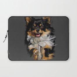 Long Hair Chihuahua On the Run Laptop Sleeve