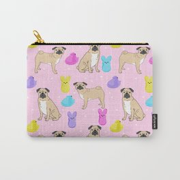 Pug dog breed peeps marshmallow easter spring dog pattern gifts Pugs Carry-All Pouch
