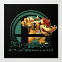 super smash bros Canvas Prints featuring Bowser - Super Smash Bros. by Donkey Inferno