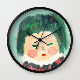 Suspicious Kid in Checker Top from the Shakespeare Drama class Wall Clock