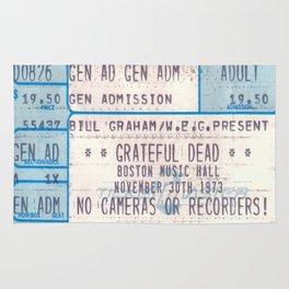 Concert Ticket Stub - The Dead - Boston Music Hall Rug
