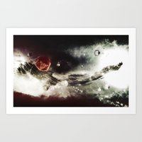 spaceship Art Prints featuring Spaceship by Hampus Olsson