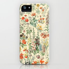 Wildflower Diagram // Fleurs II by Adolphe Millot XL 19th Century Science Textbook Artwork iPhone Case