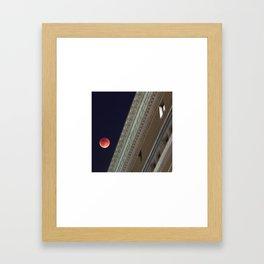 Blood Moon Over Education Building Framed Art Print