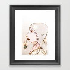 Mrs Pipe Framed Art Print