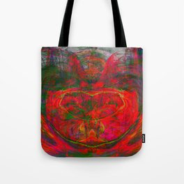 Chaos Face- Glowing Ember Tote Bag