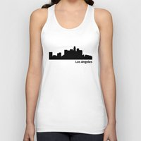 los angeles Tank Tops featuring Los Angeles by Fabian Bross
