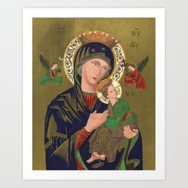 Our Lady of Perpetual Help, 1870 Art Print