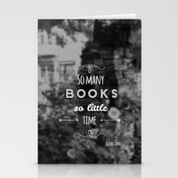 zappa Stationery Cards featuring So many books, so little time by Jane Mathieu