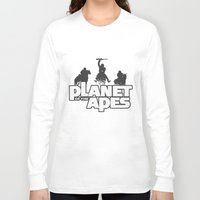planet of the apes Long Sleeve T-shirts featuring Planet of the Apes by leea1968