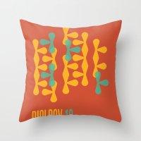 biology Throw Pillows featuring Biology 12 by lynseycreative