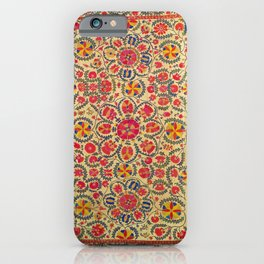 Vintage Red Floral Embroidery Suzani iPhone Case