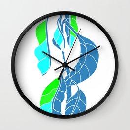 Avocado in Light Blue Wall Clock