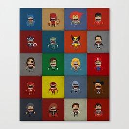 Screaming Heroes Canvas Print