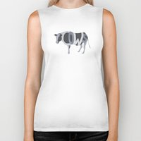 cows Biker Tanks featuring Cows Typography by Megan Yiu