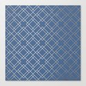 Simply Mid-Century in White Gold Sands on Aegean Blue by followmeinstead