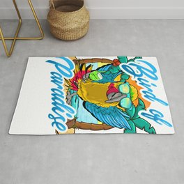 Bird Of Paradise Parrot Relaxing Beach Vacation Rug