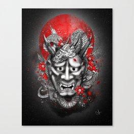 Hannya dragon mask Canvas Print