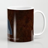 dean winchester Mugs featuring Supernatural - Dean Winchester by MacGuffin Designs