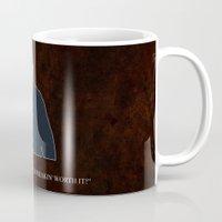 dean winchester Mugs featuring Supernatural - Dean Winchester by MacGuffin Designs