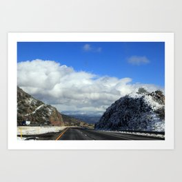 Snowy Drive Art Print
