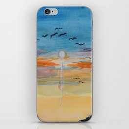 Birds and sunset iPhone Skin
