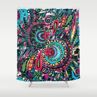 paisley Shower Curtains featuring Paisley by Lara Gurney