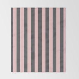 Millennial Pink Blush Coco Brown Neapolitan Stripes Pattern Throw Blanket
