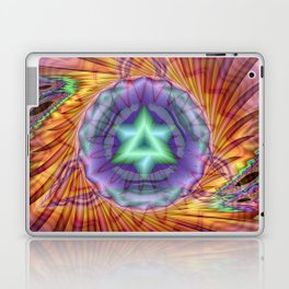 Alteuisha- Abstract Spiritual Fractal Art- Healing Art- Jewish Art- Merrkabbah Art Laptop & iPad Skin