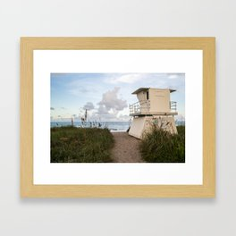 Hobe Sound Lifeguard  Framed Art Print