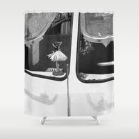 car Shower Curtains featuring car by mayrarosito