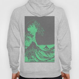 The Great Wave Green & Gray Hoody