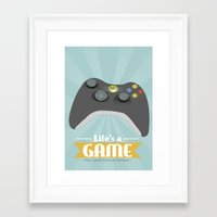xbox Framed Art Prints featuring Xbox - Life's a game by Teacuppiranha
