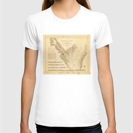 Map of the Harbor of Annapolis (1846) T-shirt