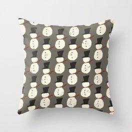 Snowguys Throw Pillow