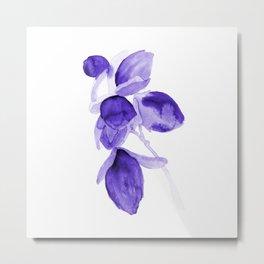 Purple watercolor flower d171203p Metal Print